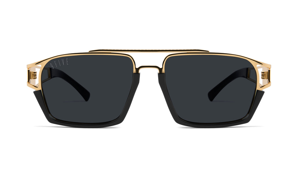 9FIVE Kingpin Black & 24k Gold Sunglasses Rx