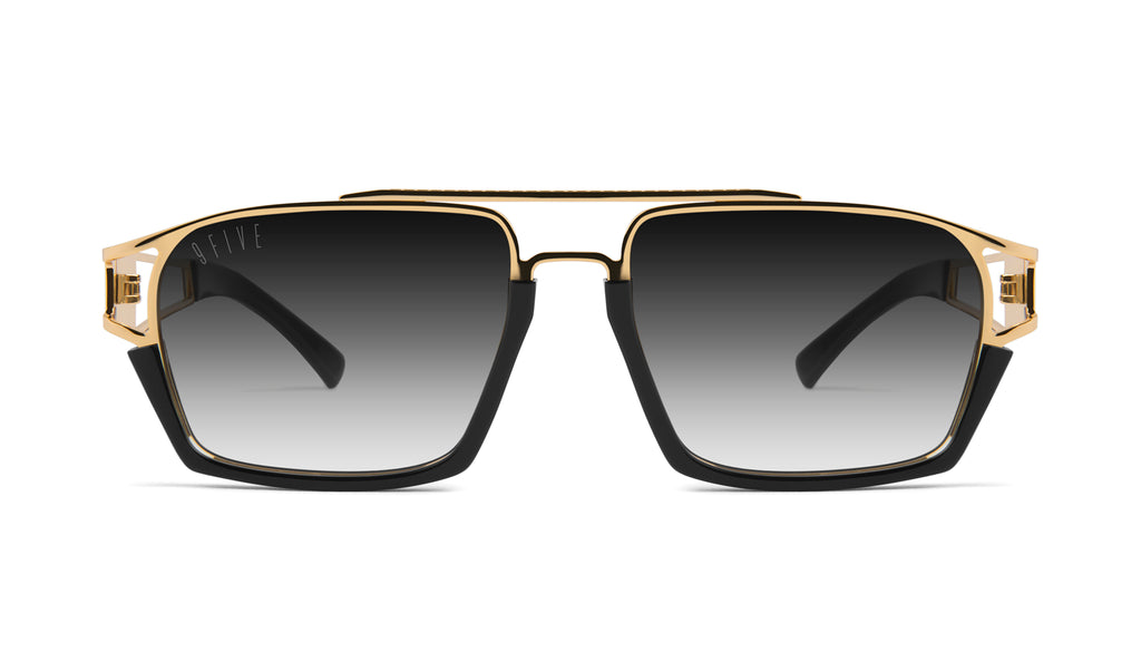 9FIVE Kingpin Black & 24k Gold - Gradient Sunglasses