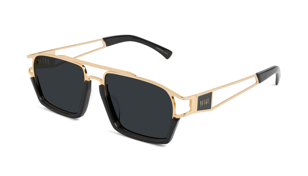 9FIVE Kingpin Black & 24k Gold Sunglasses