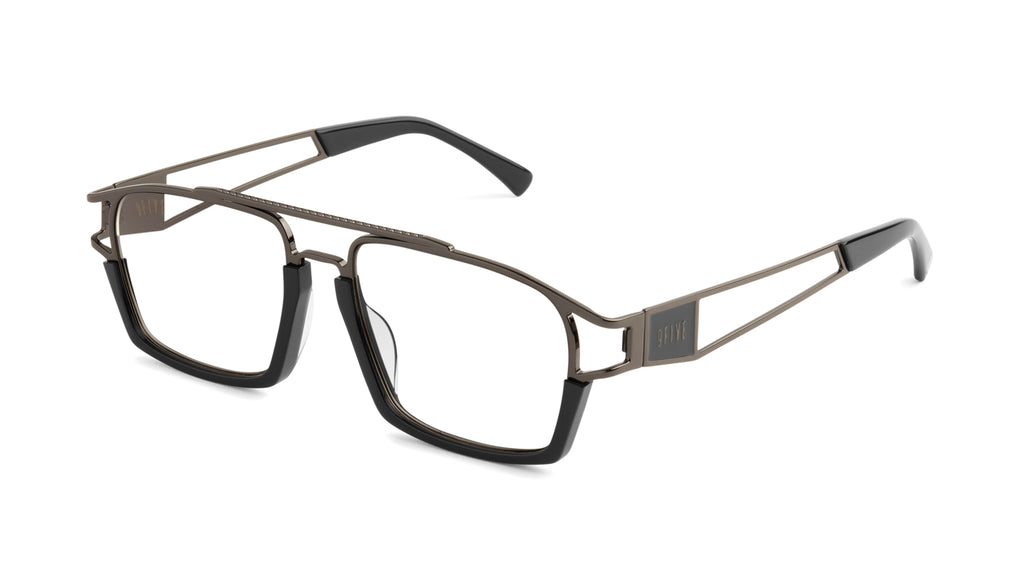 9FIVE Kingpin Gun Metal Clear Lens Glasses