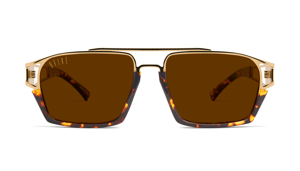 9FIVE Kingpin Tortoise & 24k Gold Sunglasses
