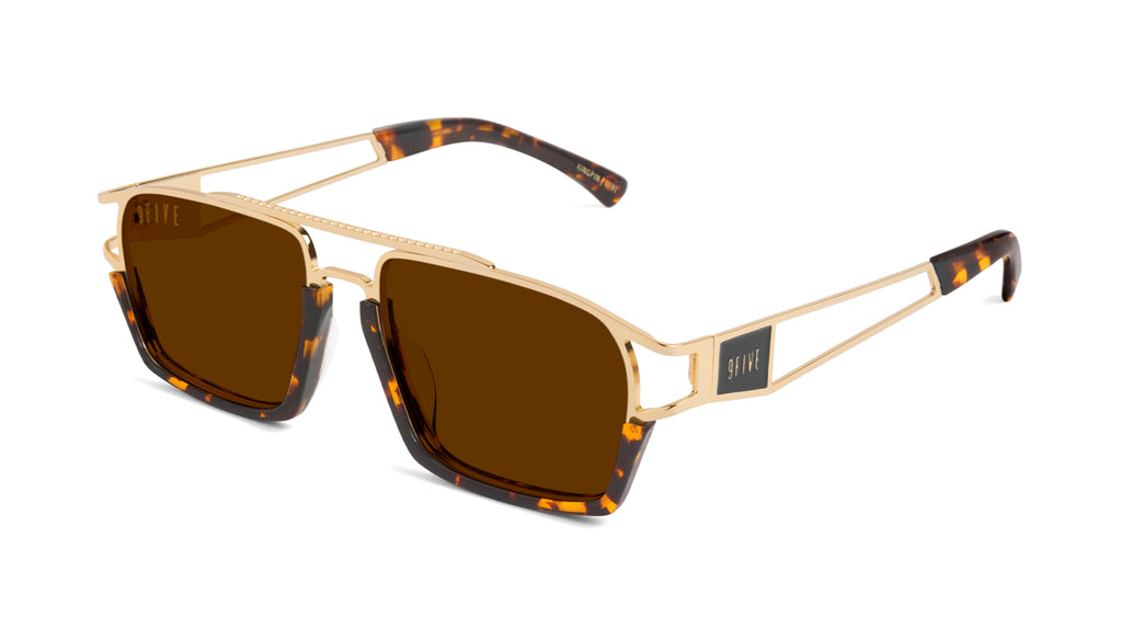 9FIVE Kingpin Tortoise & 24k Gold Sunglasses Rx