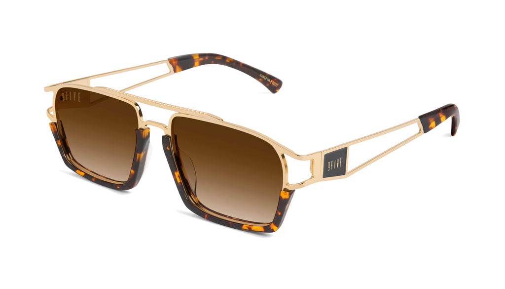 9FIVE Kingpin Tortoise & 24k Gold - Gradient Sunglasses