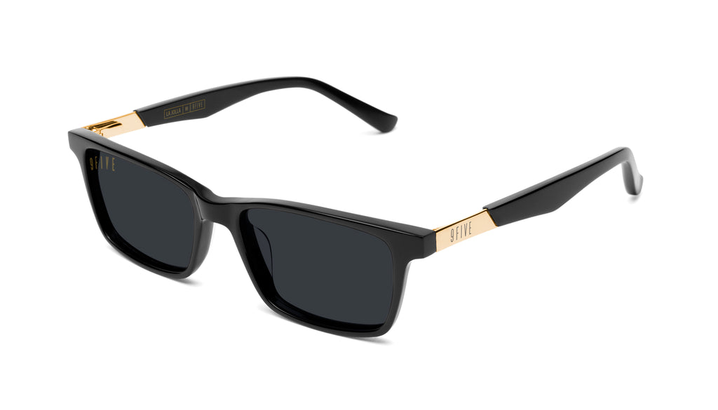 9FIVE La Jolla Black & 24K Gold Sunglasses