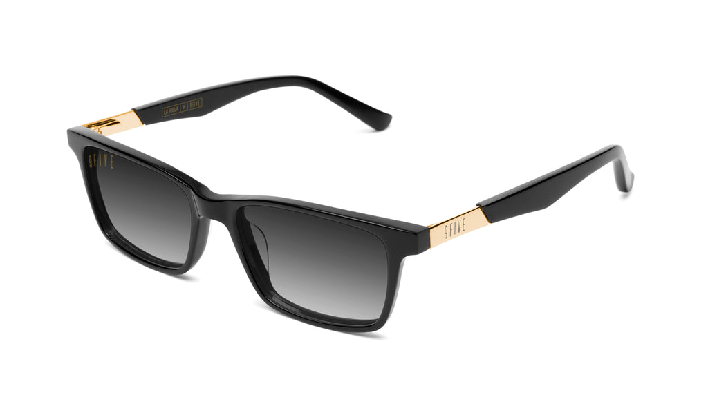 9FIVE La Jolla Black & 24K Gold - Gradient Sunglasses