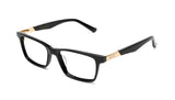 9FIVE La Jolla Black & 24K Gold Clear Lens Glasses