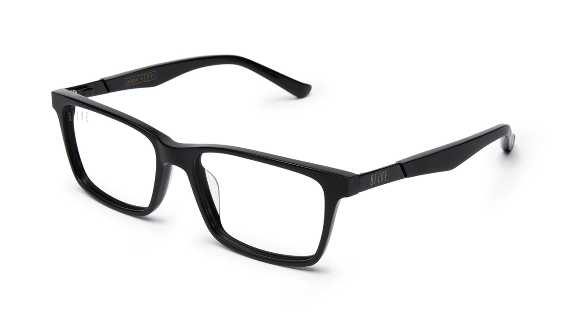 9FIVE La Jolla Matte Blackout Clear Lens Glasses