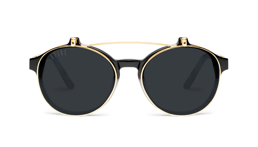 9FIVE Lane Marble Croc & 24K Gold Flip-up Sunglasses Rx
