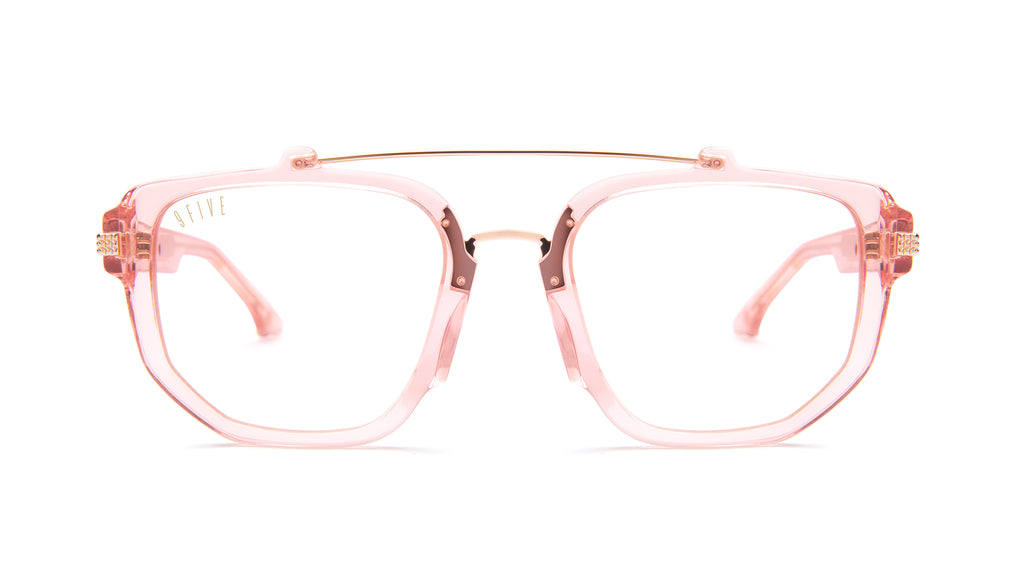 9FIVE Lawrence Rose Gold Clear Lens Glasses