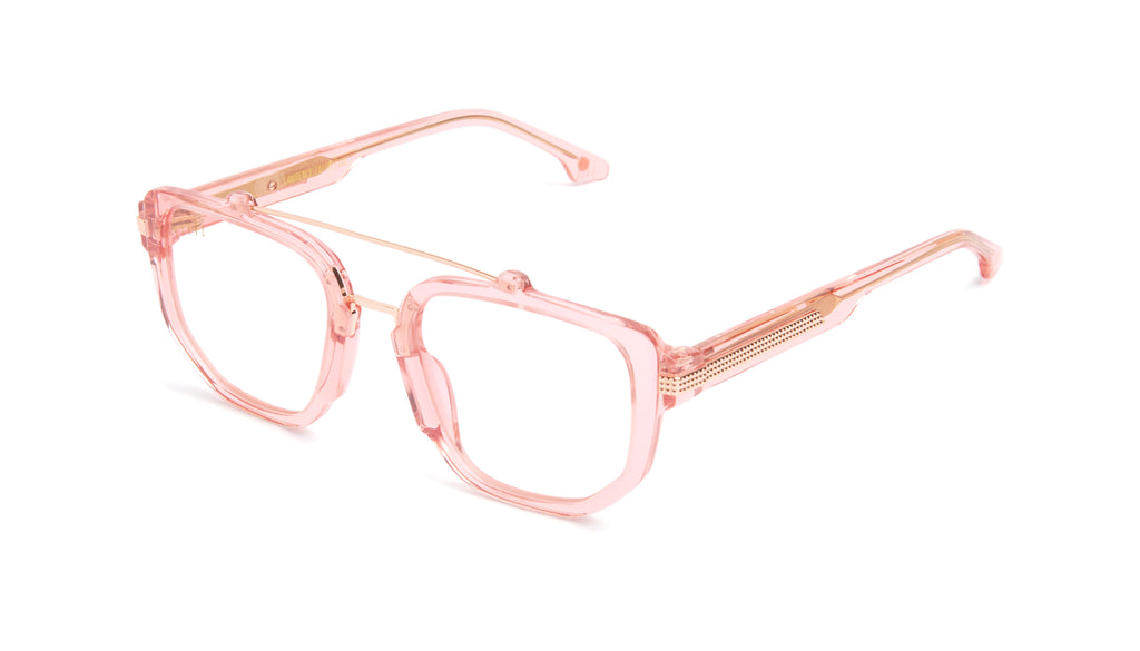 9FIVE Lawrence Rose Gold Clear Lens Glasses Rx