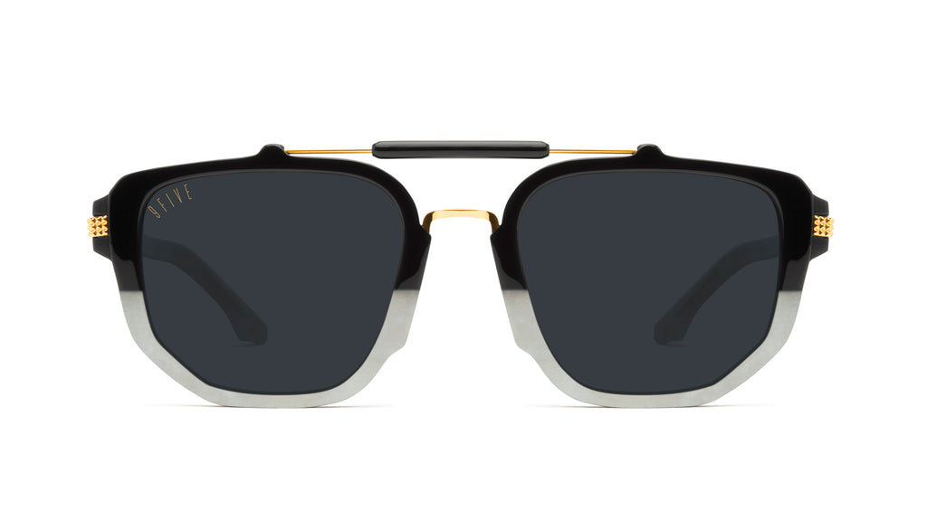 9FIVE Lawrence Marble Croc & 24k Gold Sunglasses