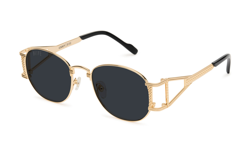 9FIVE Legacy Black & 24k Gold Sunglasses