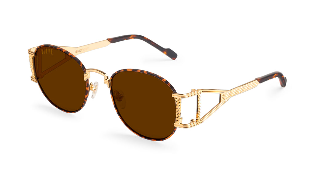 9FIVE Legacy Tortoise & 24k Gold Sunglasses