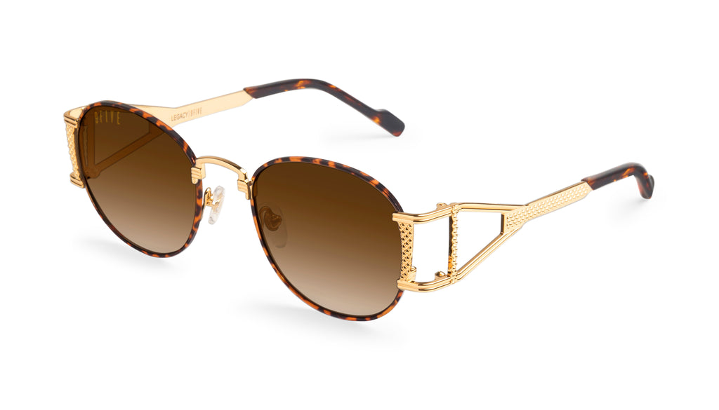 9FIVE Legacy Tortoise & 24k Gold - Gradient Sunglasses