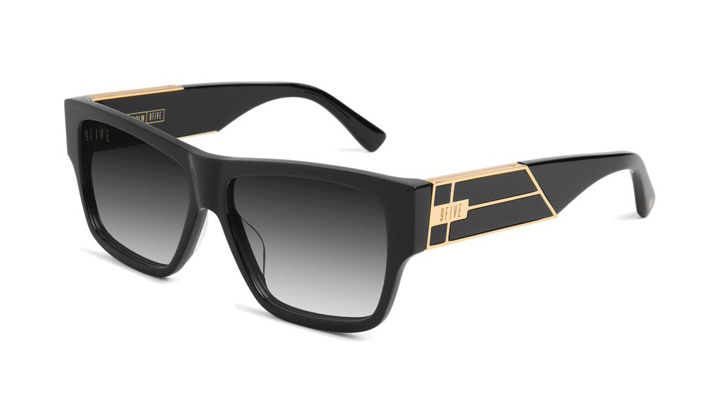 9FIVE Lincoln Black & 24k Gold - Gradient Sunglasses