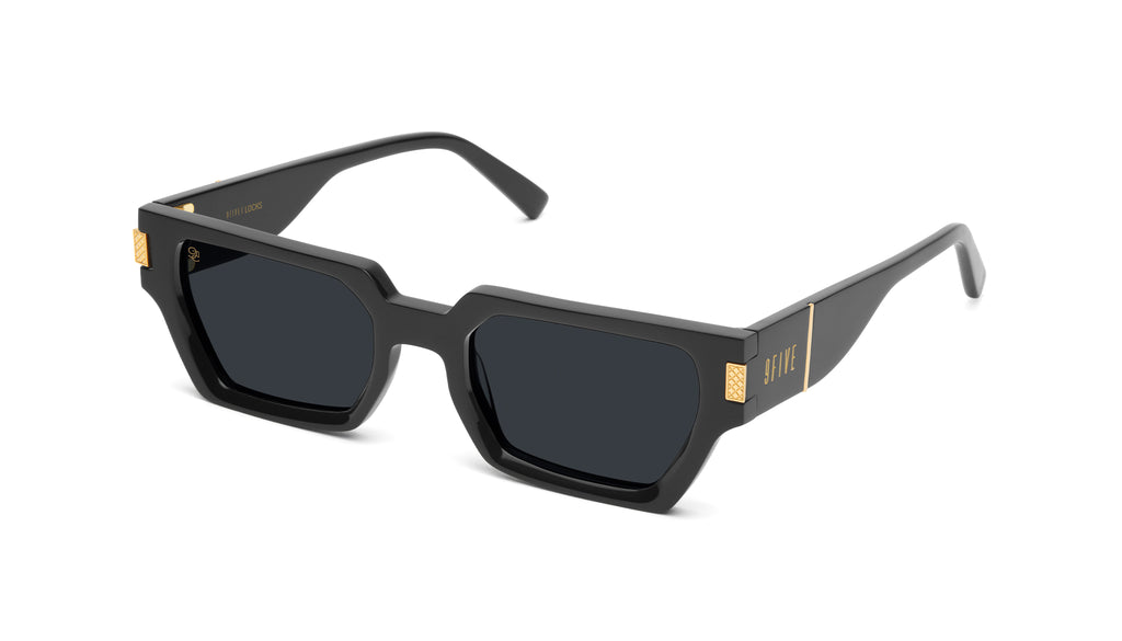 9FIVE Locks Black & 24K Gold Sunglasses