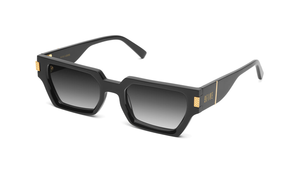 9FIVE Locks Black & 24K Gold - Gradient Sunglasses