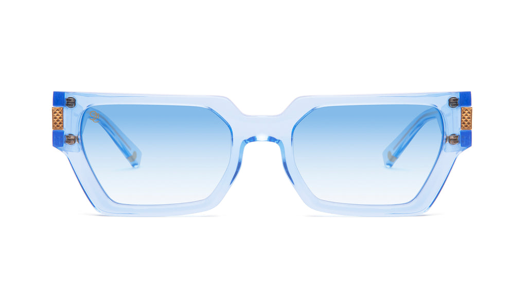 9FIVE Locks Crystal Blue & 24K Gold - Blue Gradient Sunglasses