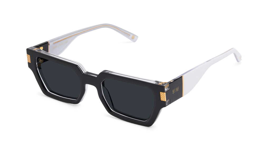 9FIVE Locks Tuxedo Gold Sunglasses