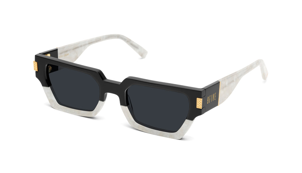 9FIVE Locks Marble Croc & 24K Gold Sunglasses