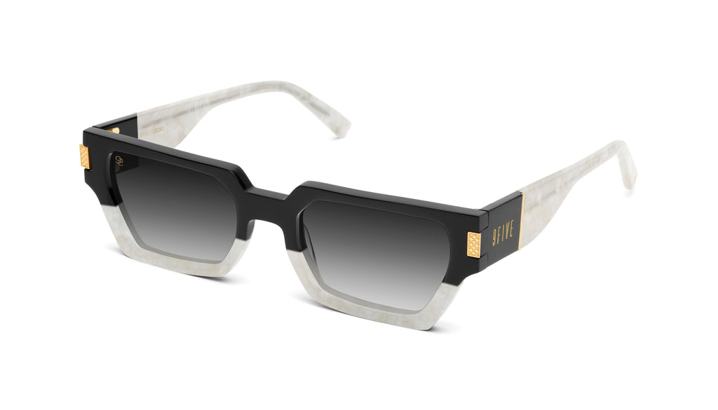 9FIVE Locks Marble Croc & 24K Gold - Gradient Sunglasses