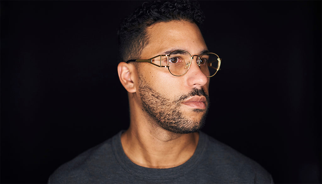 9FIVE Legacy Black & 24k Gold Clear Lens Glasses