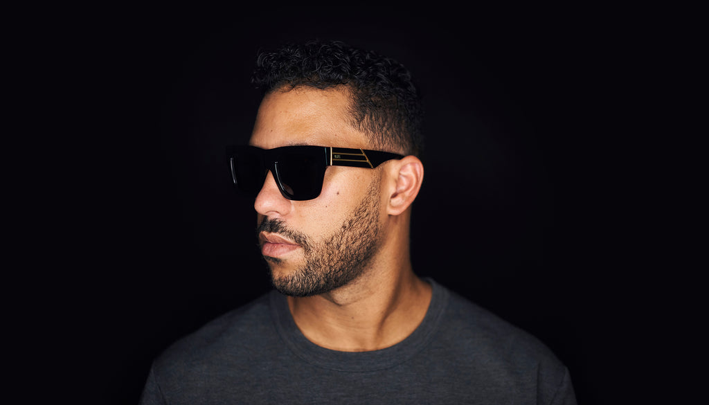 9FIVE Lucy Black & 24k Gold Sunglasses Rx