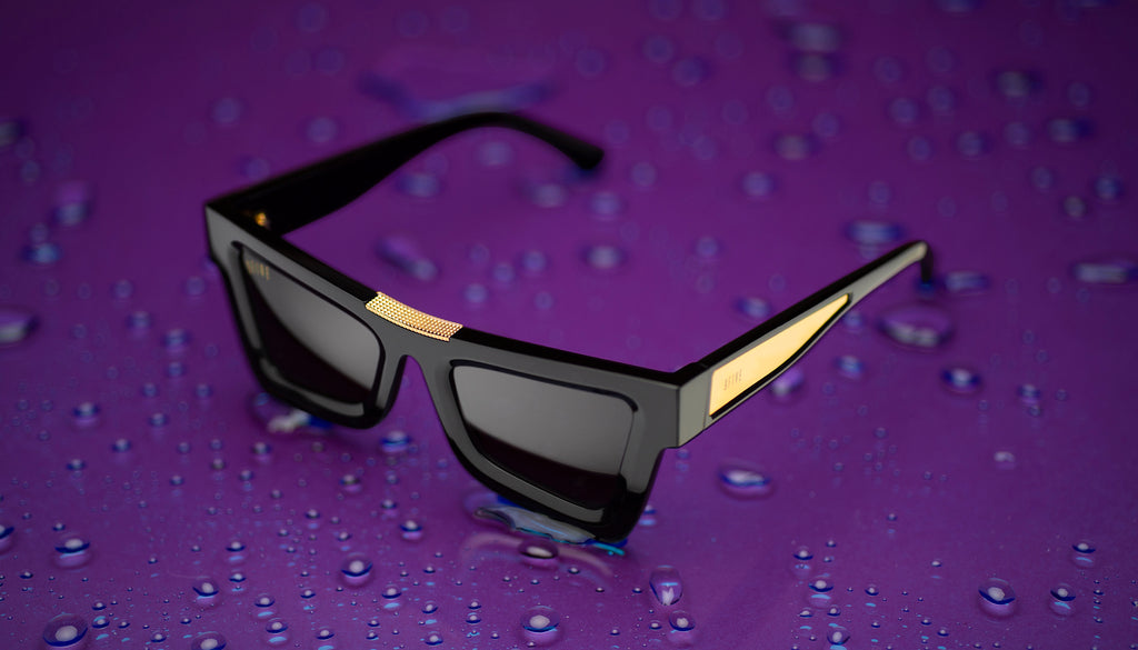 9FIVE Marauder Black & 24k Gold Sunglasses Rx