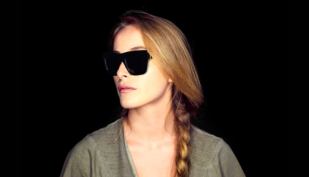 9FIVE Lucy Black & 24k Gold Sunglasses