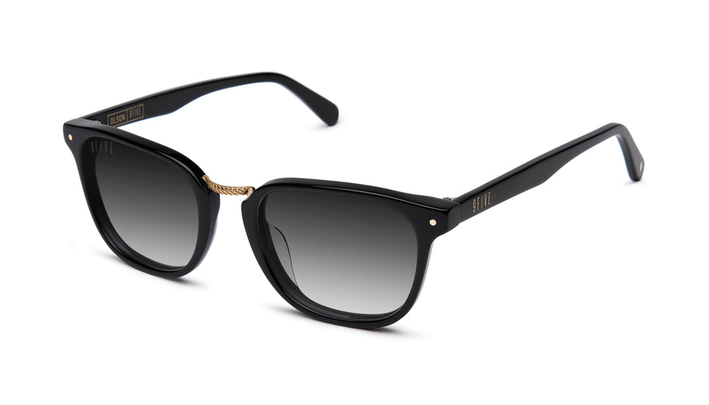 9FIVE Olson Black & 24K Gold - Gradient Sunglasses