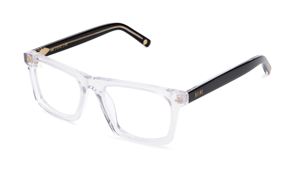 9FIVE One (Watson) Black Ice Clear Lens Glasses Rx