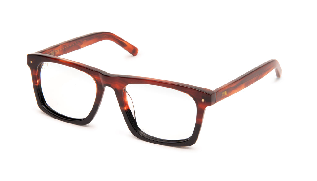 9FIVE One (Watson) Havana Clear Lens Glasses Rx