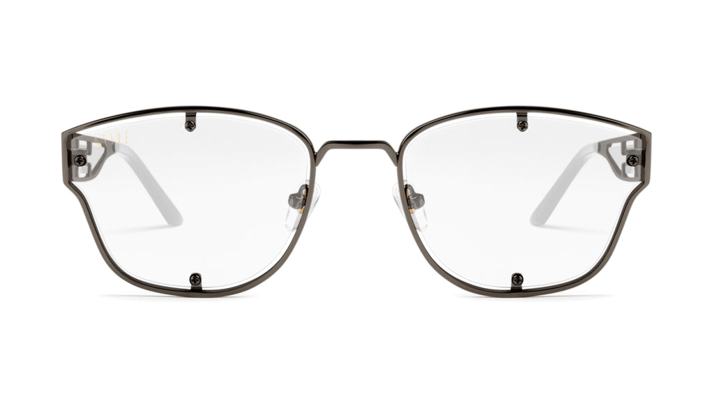 9FIVE Orion Gun Metal Clear Lens Glasses
