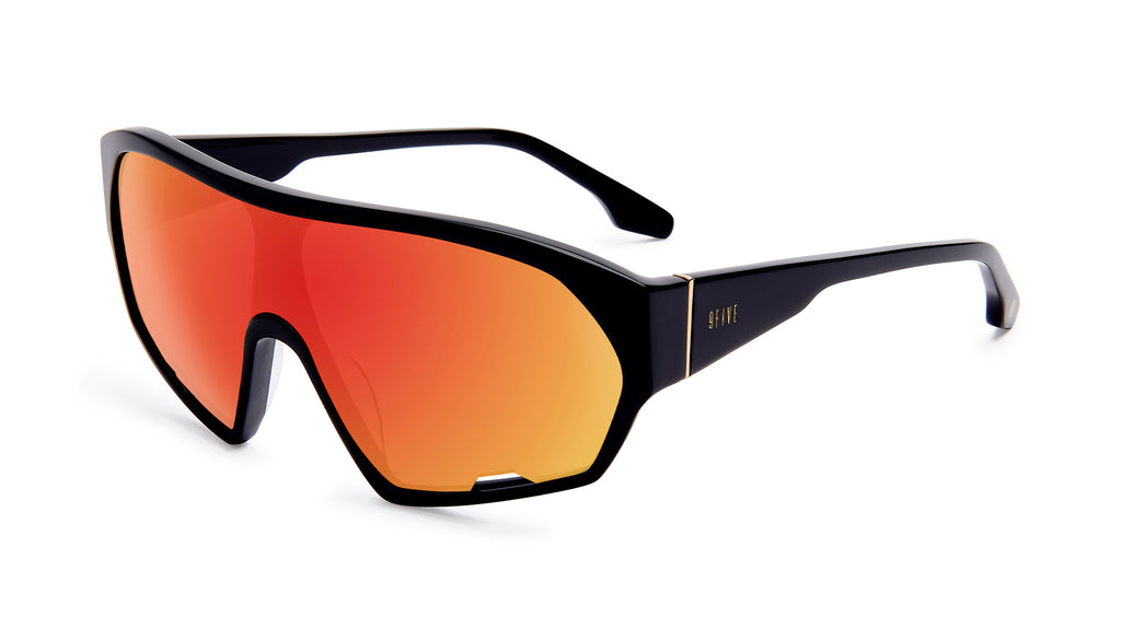 9FIVE Shields Black - Red Mirror Sunglasses