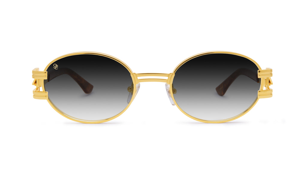 ⚡9FIVE St. James Bolt⚡ Gold Marble & 24k Gold - Gradient Sunglasses