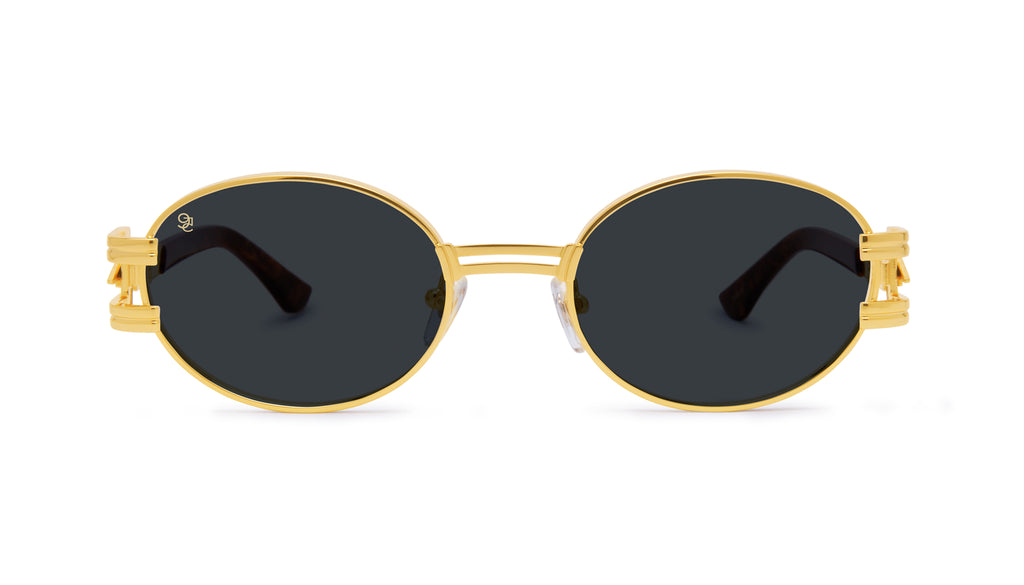 ⚡9FIVE St. James Bolt⚡Gold Marble & 24k Gold Sunglasses