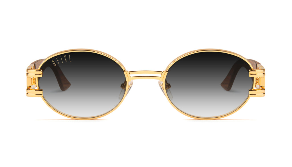 9FIVE St. James Wood & 24k Gold - Gradient Sunglasses