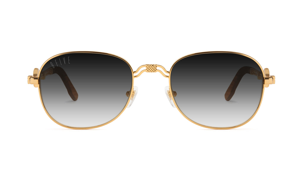 9FIVE St. Michael Wood & 24k Gold - Gradient Sunglasses