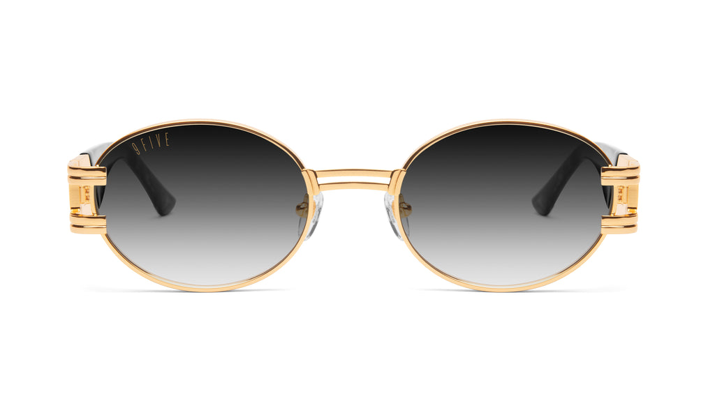 9FIVE St. James Black Marble & 24K Gold - Gradient Sunglasses