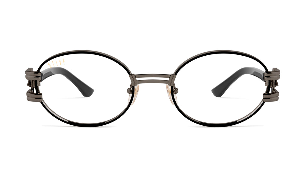⚡9FIVE St. James Bolt⚡Gun Metal Clear Lens Glasses