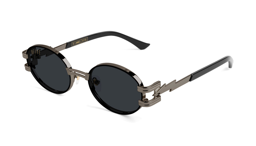 ⚡9FIVE St. James Bolt⚡Gun Metal Sunglasses Rx