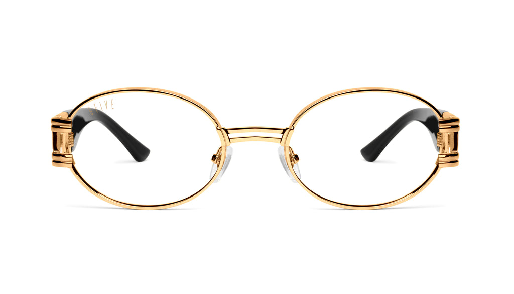 9FIVE St. James Black & 24k Gold Clear Lens Glasses9FIVE St. James Black & 24k Gold Clear Lens Glasses