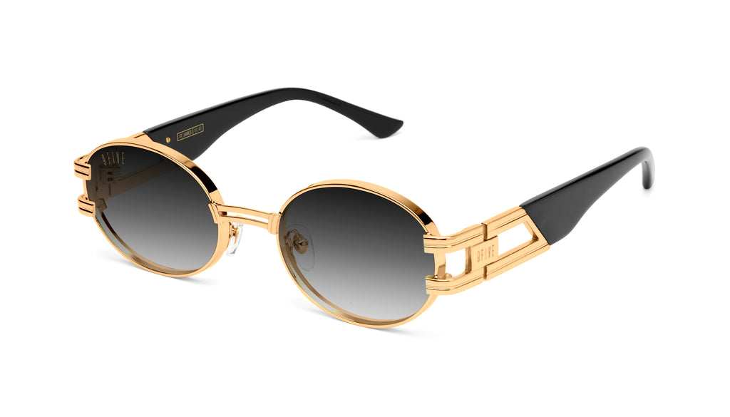 9FIVE St. James Black & 24k Gold - Gradient Sunglasses