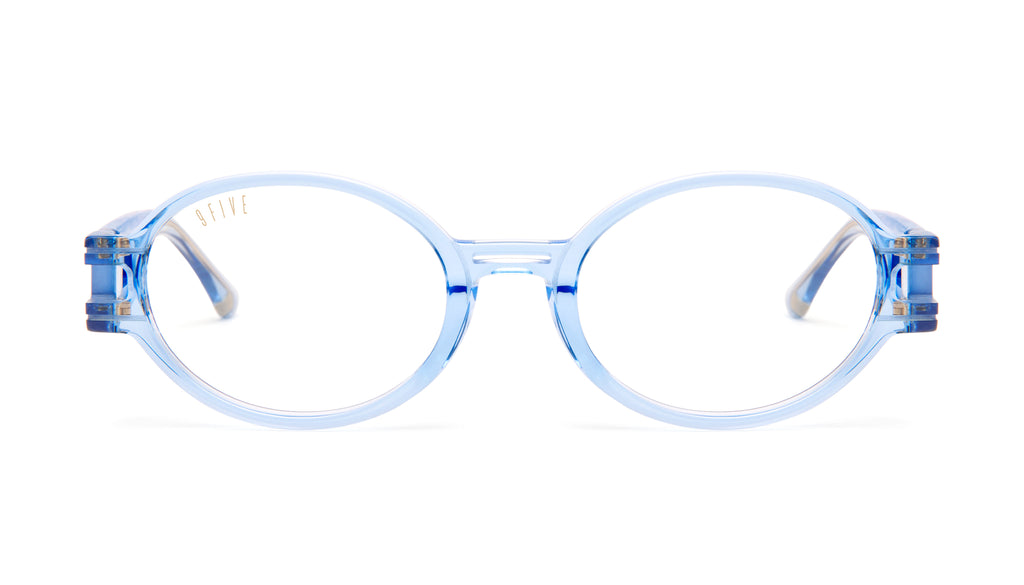 9FIVE St. James SE Crystal Blue Clear Lens Glasses