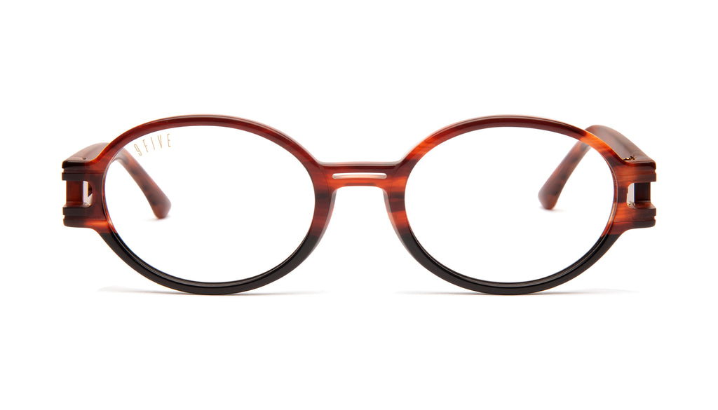 9FIVE St. James SE Havana Clear Lens Glasses