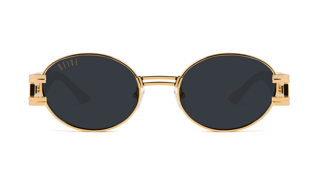 9FIVE St. James Marble Croc & 24k Gold Sunglasses