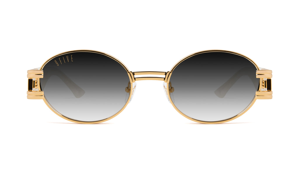 9FIVE St. James Marble Croc & 24k Gold - Gradient Sunglasses