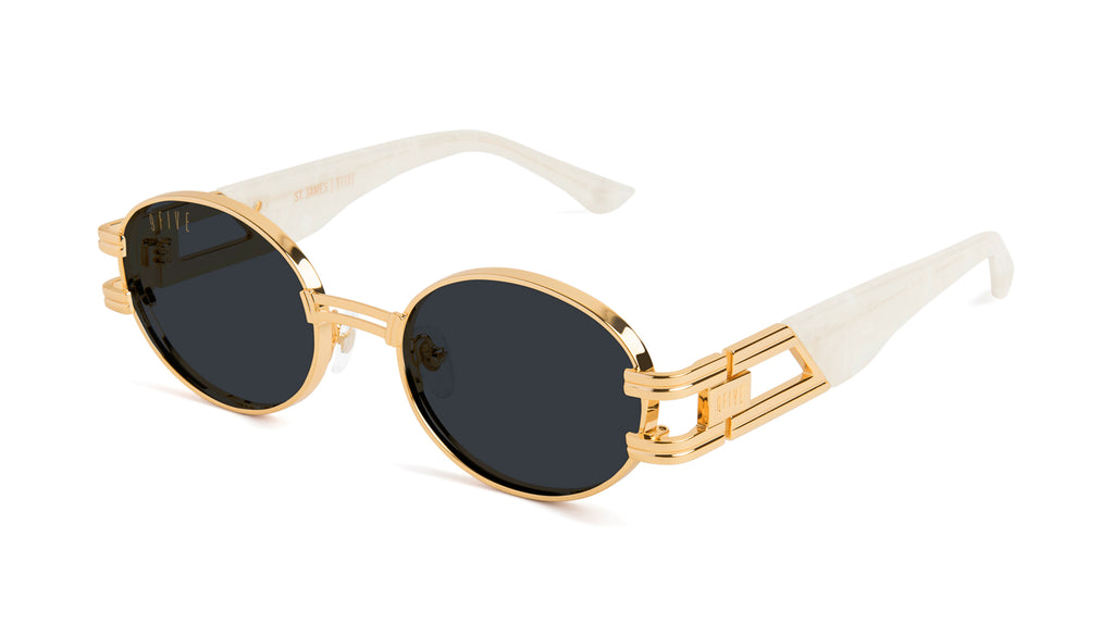 9FIVE St. James Marble Croc & 24k Gold Sunglasses Rx