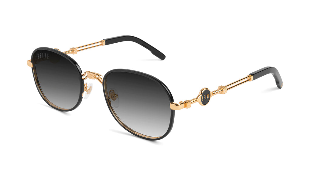 9FIVE St. Michael Black & 24k Gold - Gradient Sunglasses