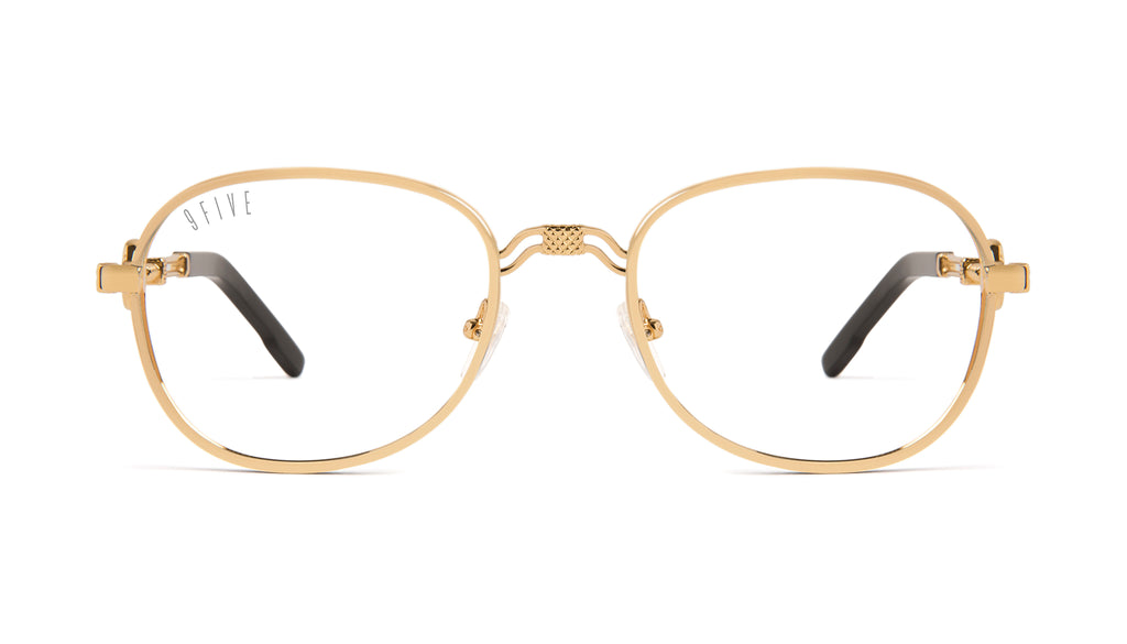 9FIVE St. Michael 24k Gold Clear Lens Glasses Rx